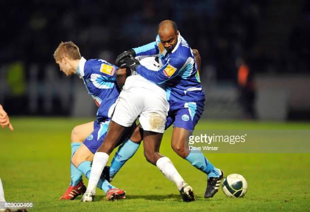 Brice JOVIAL / Zargo TOURE / Maxime LE MARCHAND - - Le Havre / Boulogne - 27eme journee de Ligue 2 -