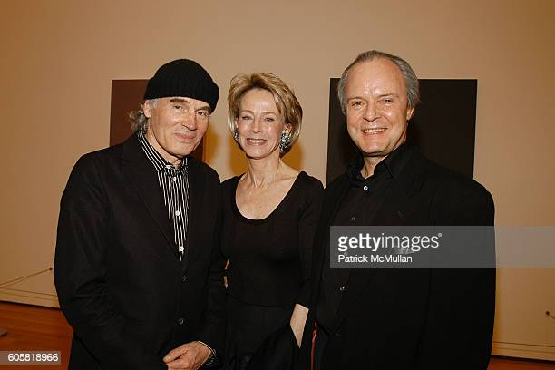 Brice Marden Anne Bass and Julian Lethbridge attend MoMA Opening Celebrating Brice Marden A Retrospective of Paintings and Drawings at MoMA on...