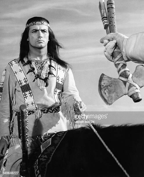 Brice Pierre *Schauspieler Saenger F als 'Winnetou' in dem Film 'Old Shatterhand' nach Karl May 1964