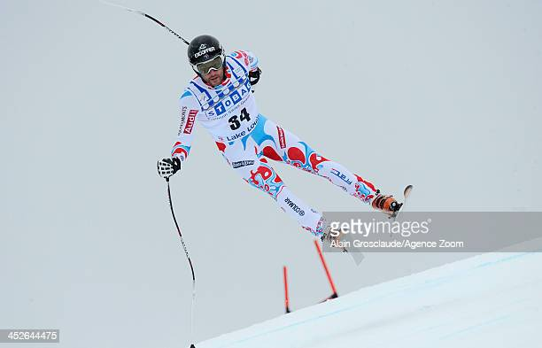 Brice Roger of France during the Audi FIS Alpine Ski World Cup Men's Downhill on November 30 2013 in Lake Louise Canada