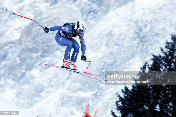 Brice Roger of France in action during the Audi FIS Alpine Ski World Cup Men's Downhill Training on December 14 2017 in Val Gardena Italy