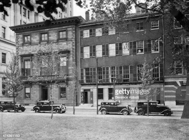 Brick and Marble Houses 219225 Fifth Street circa 1933