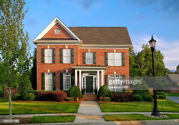 brick architecture - brick house stock pictures, royalty-free photos & images