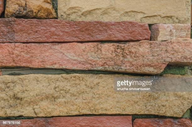 Brick block wall background .