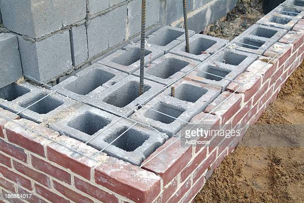 brick construction - solid stock pictures, royalty-free photos & images