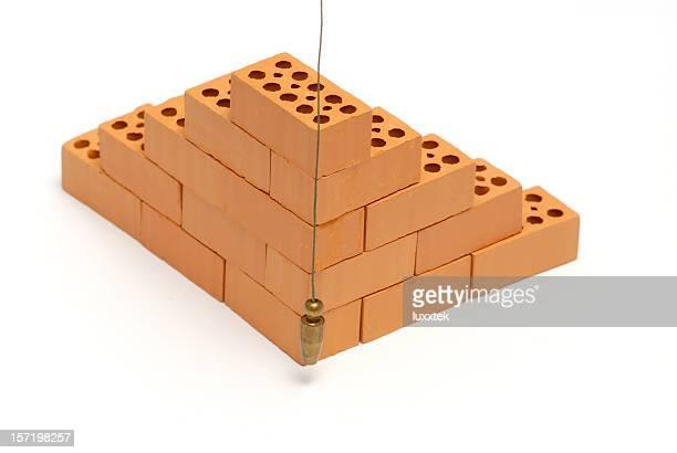 Brick Ecke mit plumb line