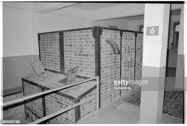 Brick crematorium ovens Rear view of brick crematorium ovens at Mauthausen a Nazi concentration camp in operation during World War II Over 100 000...
