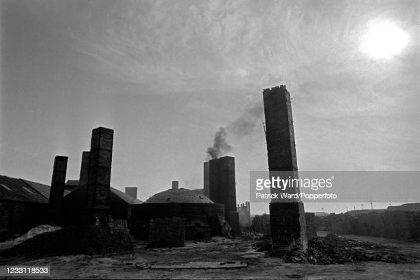 Brick factory in operation near Peterborough, circa May 1969. From a series of images to illustrate the many frustrations of living in Britain during...
