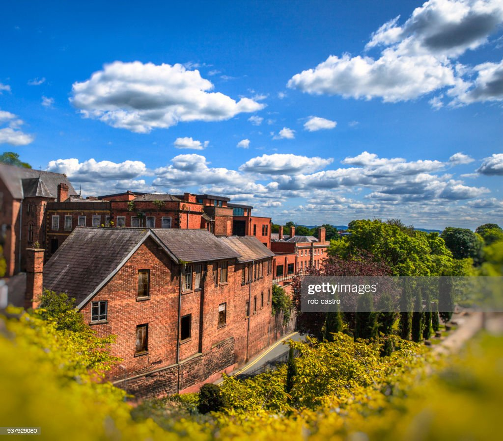 Brick Houses in Chester, England : Stock Photo