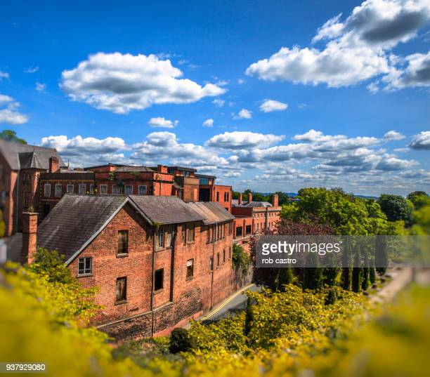 brick houses in chester, england - rob castro stock pictures, royalty-free photos & images