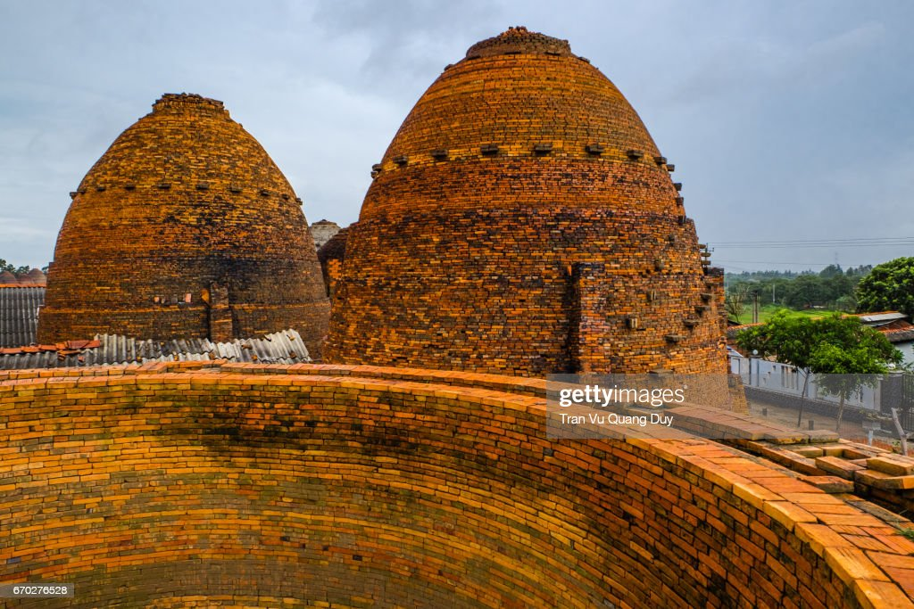 Brick kilns in Vinh Long, Vietnam. : Stock-Foto