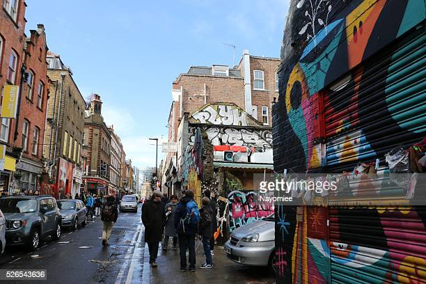 brick lane, london - east london stock pictures, royalty-free photos & images