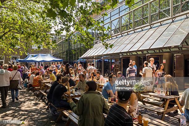 Brick Lane, people during the Sunday (up) Market