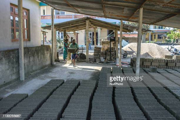 Brick making process in Sauraha Chitwan National Park Nepal on March 27 2019