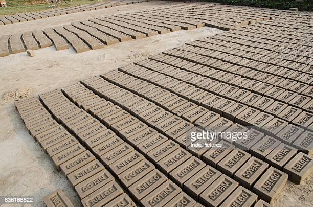 Brick Manufacturing At A Village