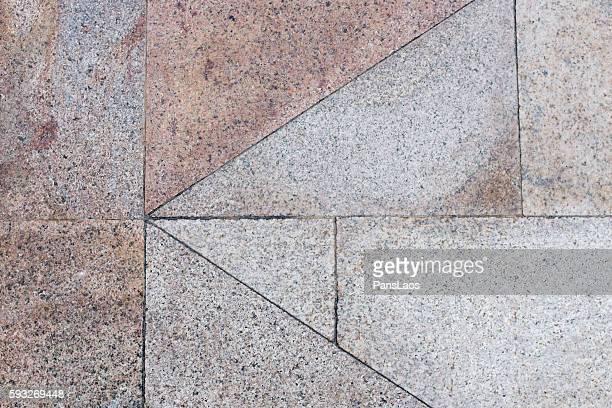 Brick pavement tile in urban city street