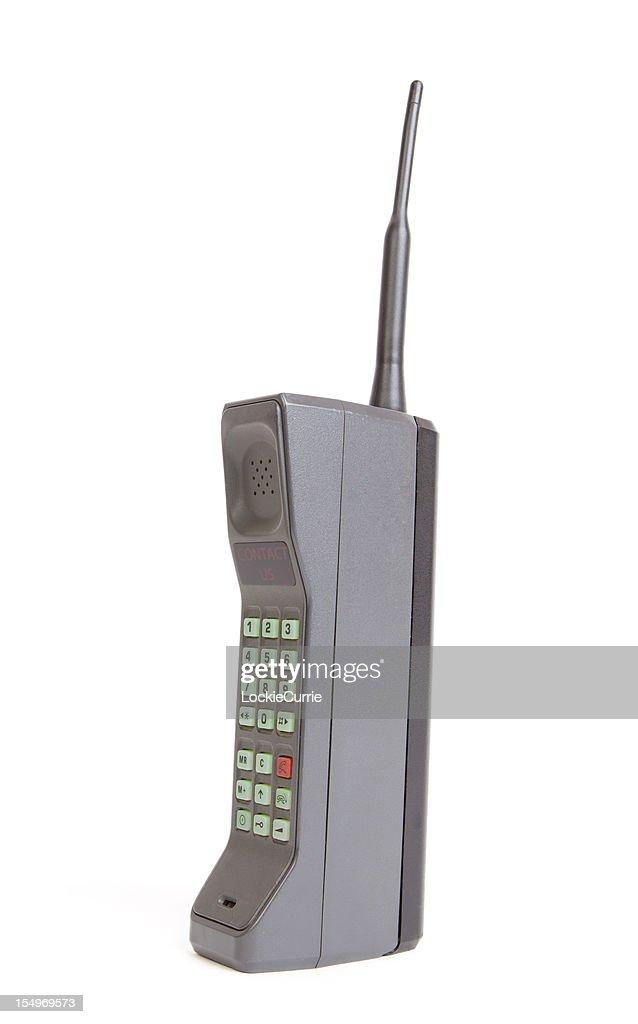 Brick phone : Stock Photo