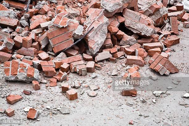Escombros de ladrillo