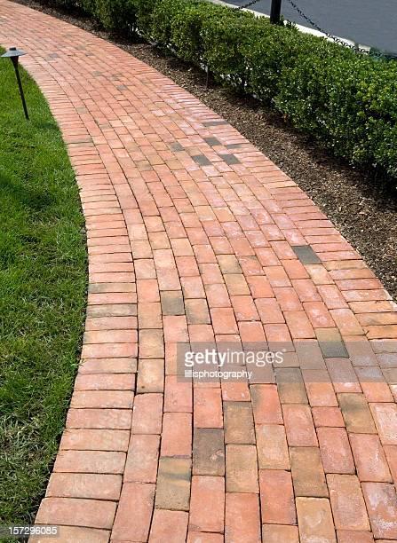 Brick Sidewalk in Suburbia