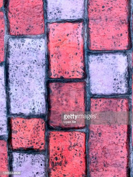 brick texture - liyao xie fotografías e imágenes de stock
