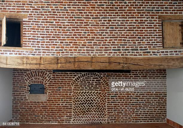 Brick wall Chateau de Duisans 18th century NordPas de Calais France