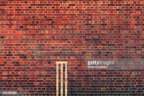 brick wall cricket - wicket stock pictures, royalty-free photos & images