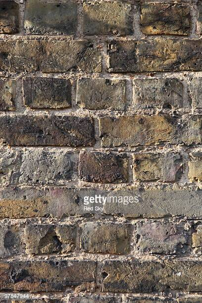 A brick wall made from london stock full frame