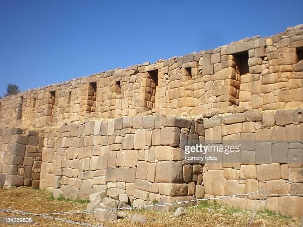 Brick wall of inka temple