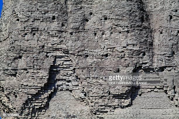 Brick wall of the ziggurat of DurKurigalzu 16801160 BC Akar Kuf Baghdad Iraq Kassite civilisation 17th12th century BC