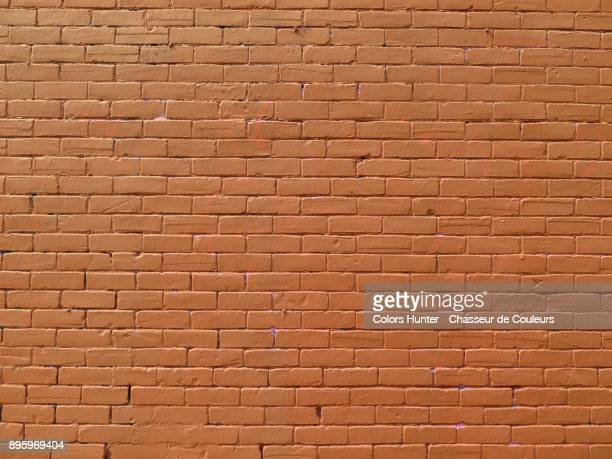 Brick wall painted