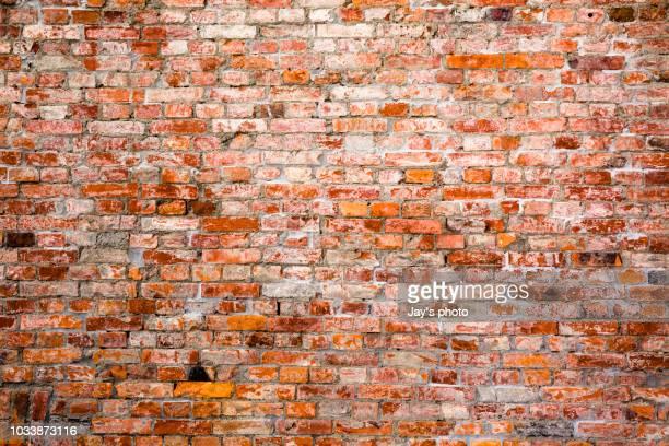 brick wall - tijolo material de construção - fotografias e filmes do acervo