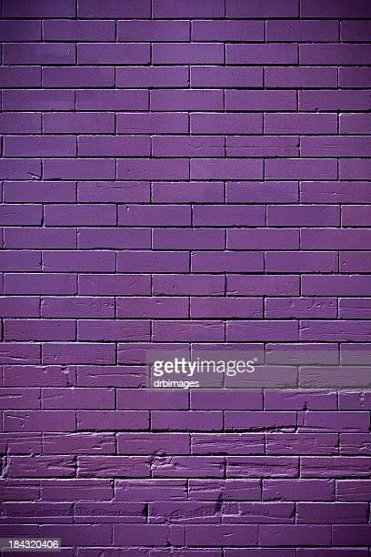 parede de tijolo - roxo - fotografias e filmes do acervo