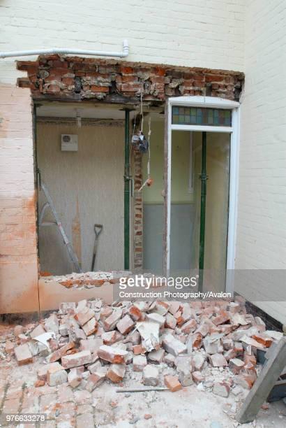 Brick wall removal at house UK