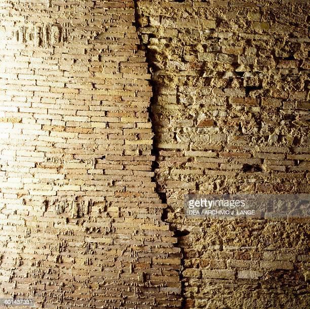 Brick wall Roman Baths Chieti Abruzzo Italy Roman civilisation 2nd century AD