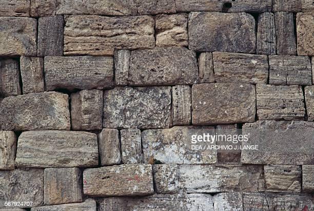 Brick wall Takhte Soleyman or Throne of Solomon Iran Sassanid civilisation