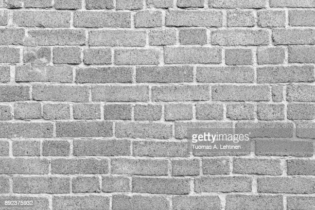 Brick wall texture background in black and white.