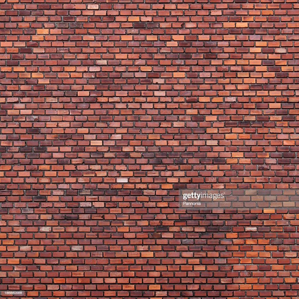 Brick Wall With Various Shades Of Brown Stock Photo