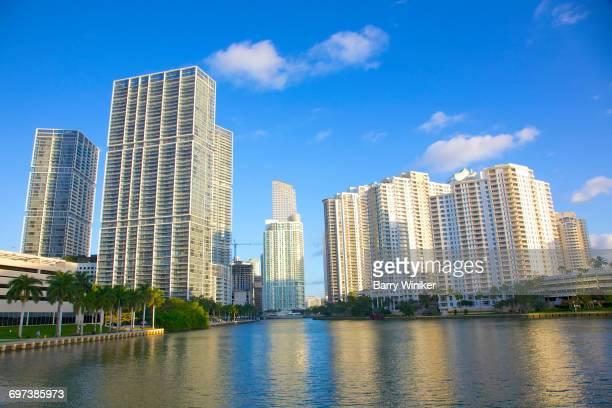Brickell area of Miami and Miami River, Florida