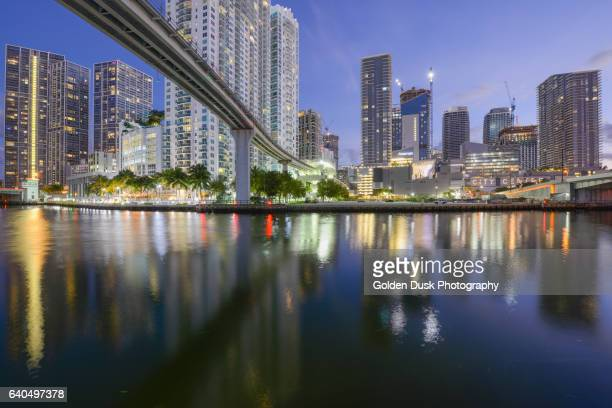 Brickell Skyline Along The Miami River