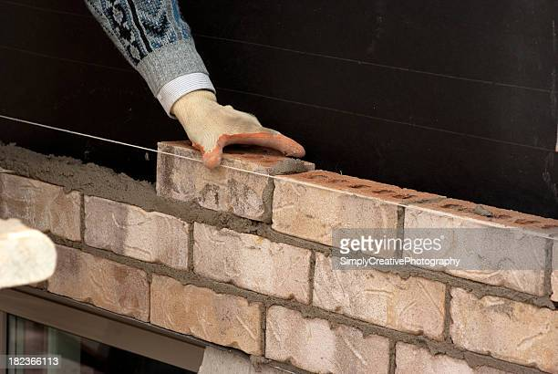 Bricklayer in Action