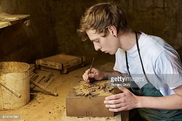 Brickmaker making 'special' brick
