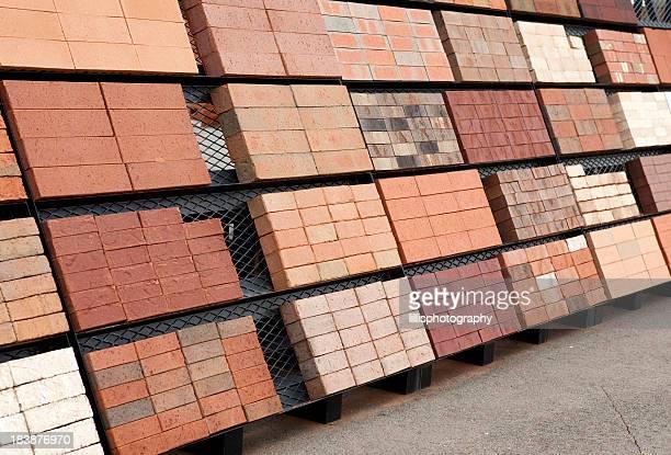 Bricks on Display at Manufacturing Plant