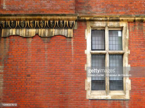 bricks wall and window of london - wall building feature stock pictures, royalty-free photos & images
