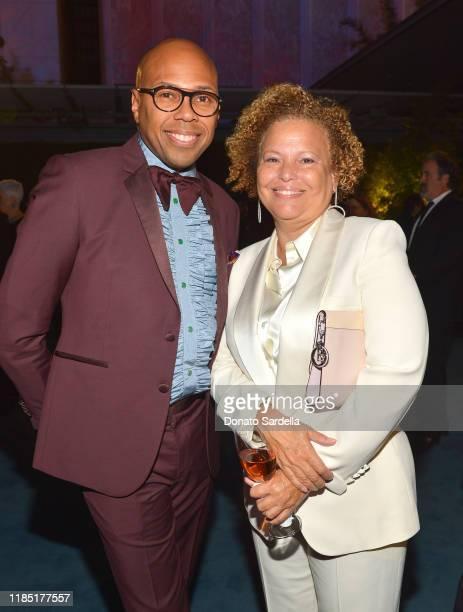 Brickson Diamond and Debra L Lee attend the 2019 LACMA Art Film Gala Presented By Gucci at LACMA on November 02 2019 in Los Angeles California