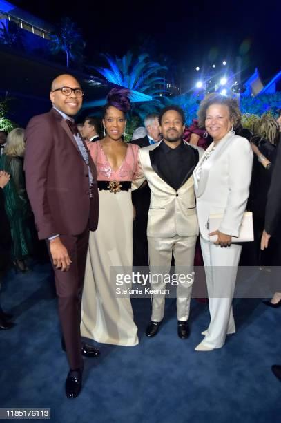 Brickson Diamond, Regina King, wearing Gucci, Ian Alexander Sr., and Debra L. Lee attend the 2019 LACMA Art + Film Gala Presented By Gucci at LACMA...