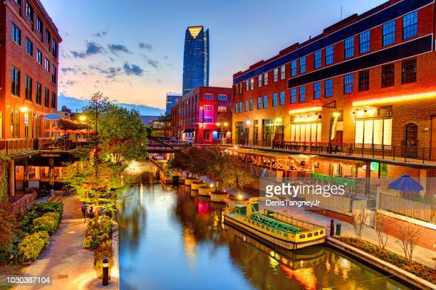 bricktown, oklahoma city - oklahoma city stock pictures, royalty-free photos & images