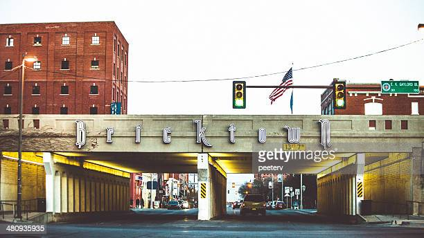 bricktown, oklahoma city. - oklahoma city stock pictures, royalty-free photos & images