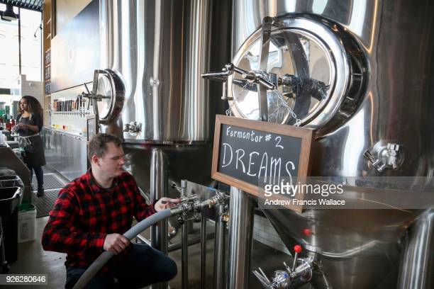 TORONTO ON FEBRUARY 28 Brickworks Ciderhouse Adam Gerrits poses at the cider vats February 28 2018 For weekly newbusiness profile