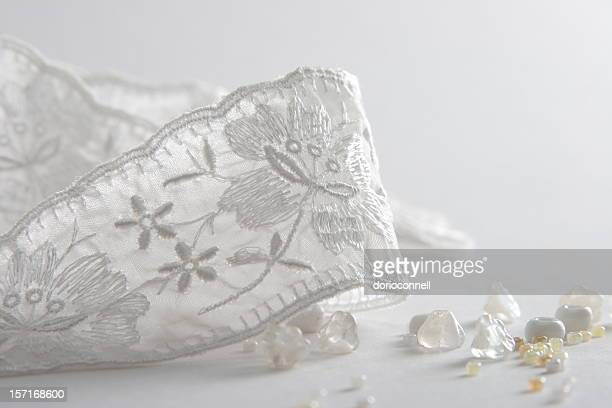 bridal accessories - frilly stock photos and pictures