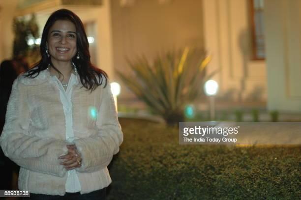 Bridal Asia organizer Divya Gurwara poses at the Gambia's National Day at The Dashyap Farms Rajokri NH8 New Delhi